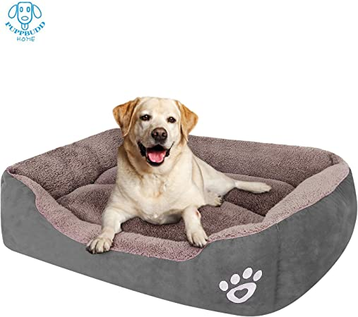 Amazon Com Puppbudd Dog Bed For Large Dogs Washable Comfortable Safety Pet Sofa Extra Firm Cotton Breathable For Medium And Small Dog Cat 8060cm Size Xl L Pet Supplies