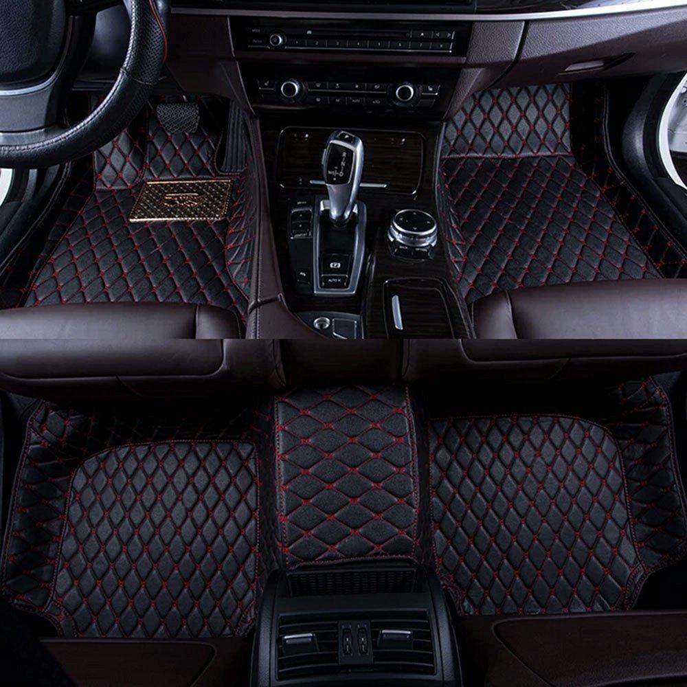 Floor mats qx80 - Amazon Com Okutech Custom Fit Luxury Xpe Leather Waterproof 3d Full Car Floor Mats For Bmw X5 Black Red Stiching Automotive