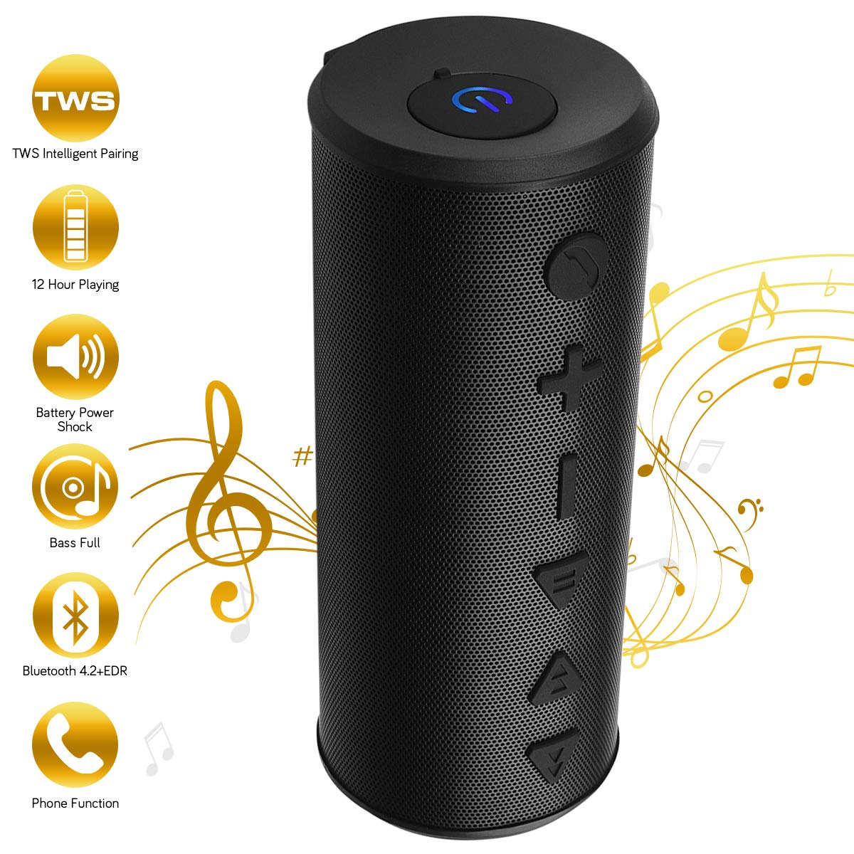 Steady Portable Bluetooth Wireless Speaker Waterproof Power Bank Ultra Bass Subwoofer Chills And Pains Portable Audio & Headphones