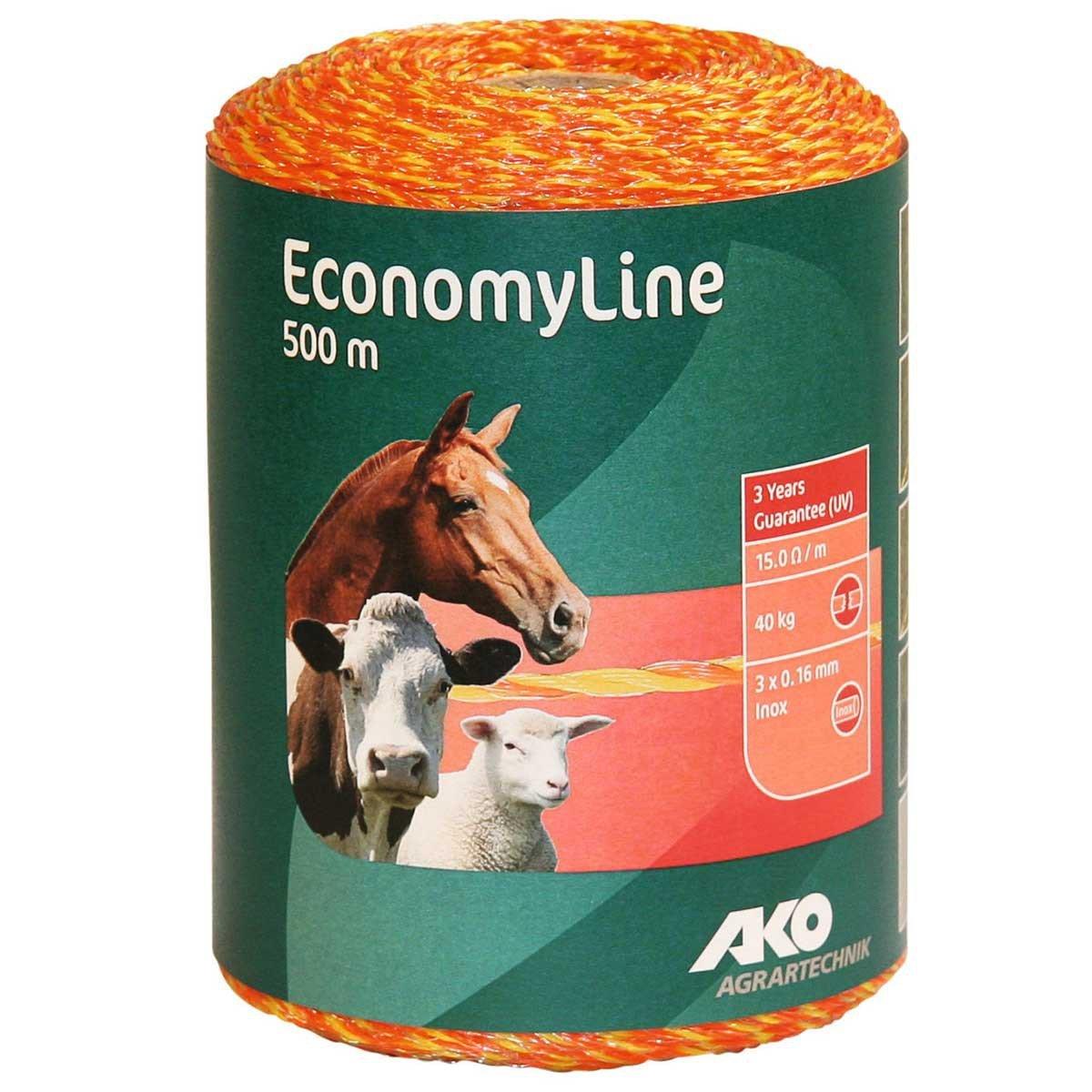 Hilo pastor electrificador para cercados 500m apto para vacas,caballos,ovejas... 44519