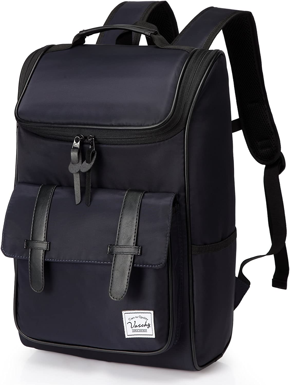 Backpack for men,Vaschy Vintage Water Resistant Daypack Rucksack with Padded 15.6 inch Laptop Compartment