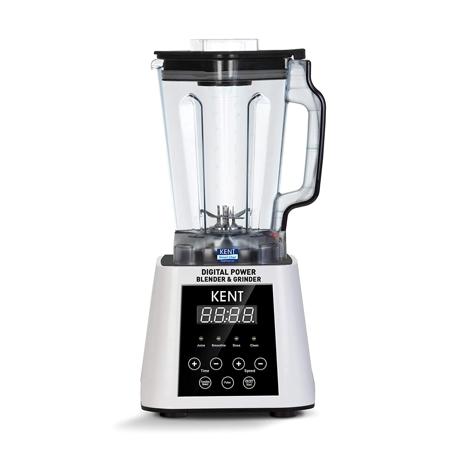 Refurbished Kent 16027 2500-Watt Digital Power Blender with Jar (White) kida.in