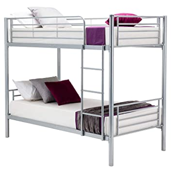 Amazon Com Mecor Bunk Bed Frame Twin Over Twin Easy Assembly