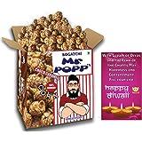Bogatchi Mr. Popp's Dark Chocolate Popcorn Best Diwali Gift, 250g with Free Happy Diwali Greeting Card