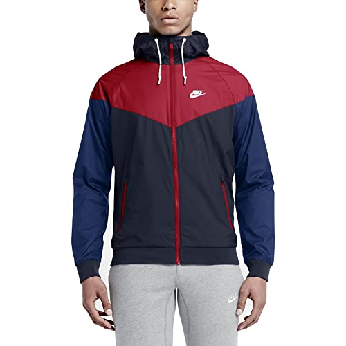 fc2f14d94011 Nike Mens Windrunner Hooded Track Jacket Obsidian Blue University Red  727324-452 Size Small  Amazon.in  Shoes   Handbags