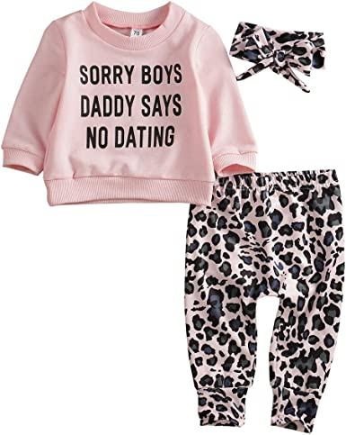 Infant Girls Leopard Print Love To Smile Baby Outfit Cat Bodysuit /& Leggings Set
