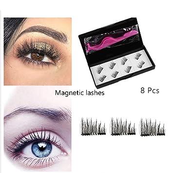 ec97ef1b30a Magnetic Eyelashes, RVZHI Premium Quality False Eyelashes Set With Eyelash  Tweezer, Ultra Thin 3D