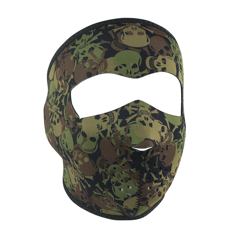 Zanheadgear WNFM118H Neoprene Half Face Mask, Woodland Camo