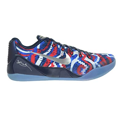 size 40 34f8e 124a6 Nike Kobe IX EM Independence Day Men s Shoes White Metallic Silver Hyper  Cobalt