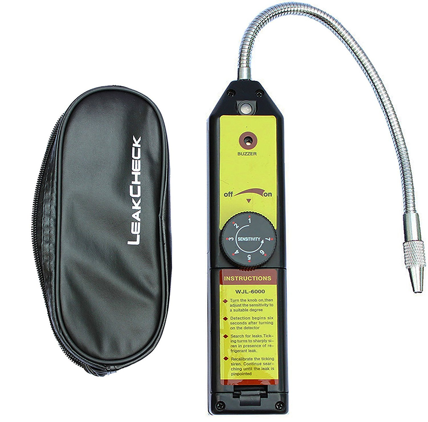 LotFancy Refrigerant Freon Leak Detector for HFC CFC Halogen R134a R410a R22a R600a R290 Air Condition HVAC 12P-2629-C