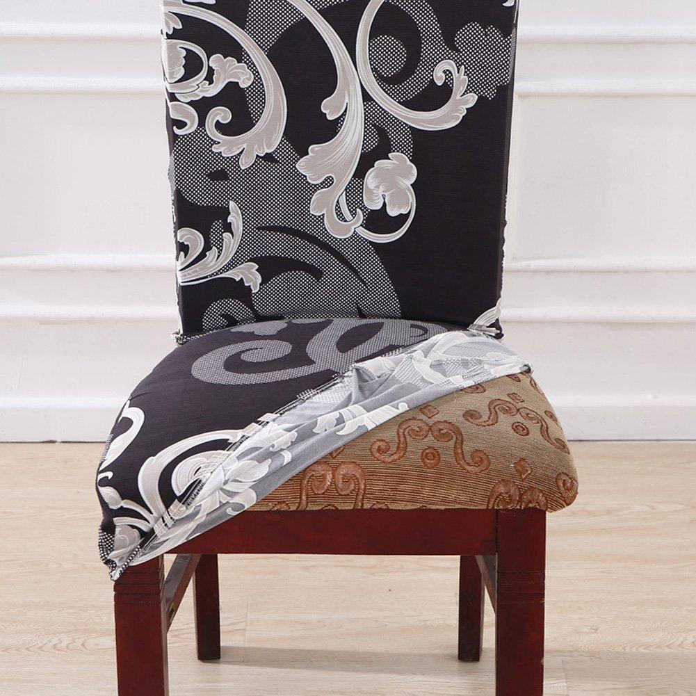 Yisum Moderne Stretch Bezüge Für Esszimmerstühle Abnehmbar