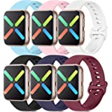 Silicone Bands Compatible with Apple Watch Bands 38mm 40mm 42mm 44mm, Soft Wristbands Compatible with iWatch Bands…