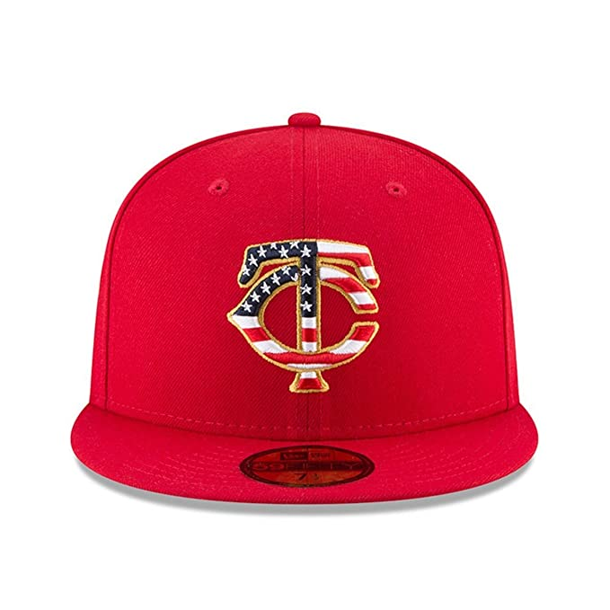 30813287f Amazon.com : New Era Minnesota Twins 2018 July 4th Stars and Stripes  59FIFTY On Field Fitted Hat : Sports & Outdoors