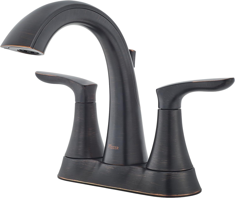 Pfister LG48WR0Y Weller WellerLG48WR0Y Centerset Bath Faucet, Tuscan Bronze Finish
