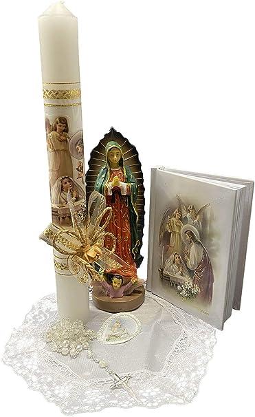 Girl first communion candle set velas para primera comuni\u00f3n First communion candle for girl English