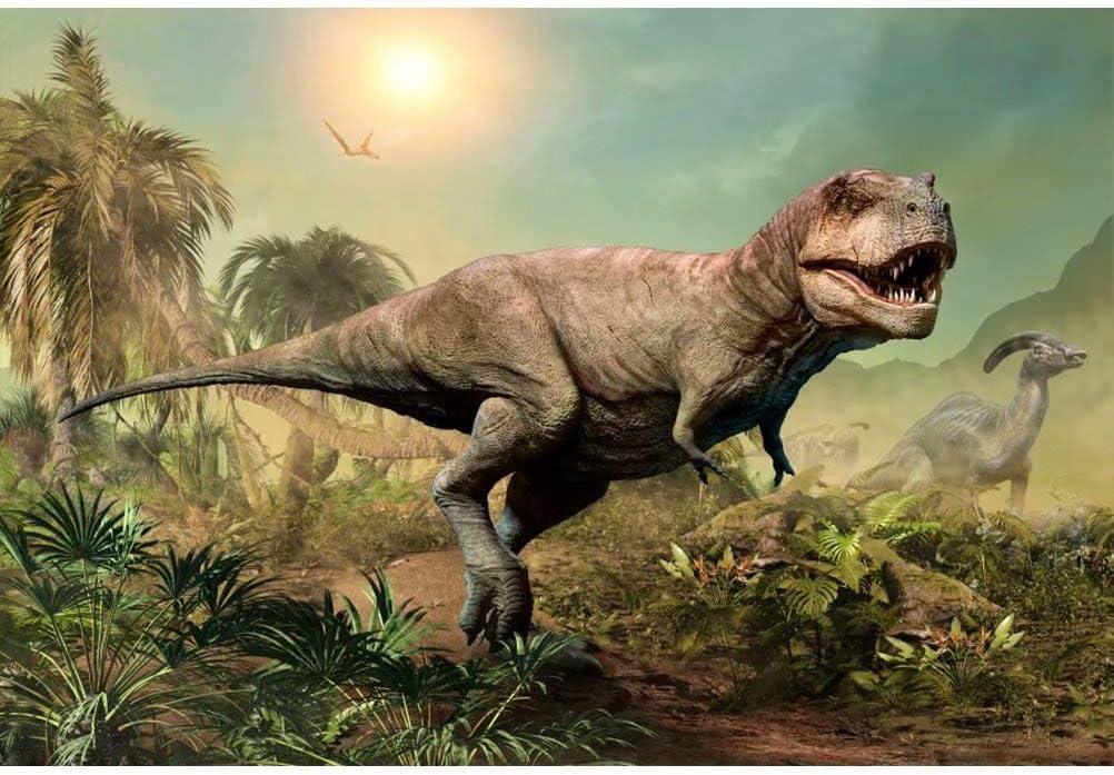 New Dinosaur Backdrop 7x5ft Mesozoic-era Dinosaur Photography Background Kids Dinosaur Birthday Party Decoration Boys Birthday Photo Shoot School Events Dinosaur Background Digital Studio Props