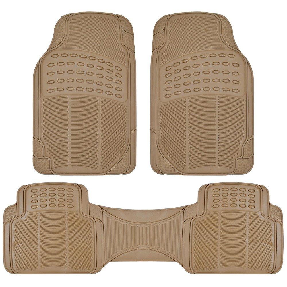 Amazon.com: BDK Heavy Duty Rubber Floor Mats   Universal For Car Truck SUV    Full 3pc Set In Beige: Automotive