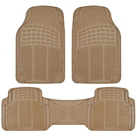 BDK Heavy Duty Rubber Floor Mats   Universal For Car Truck SUV   Full 3pc  Set