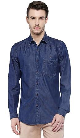87a5fca1520 SPEAK Men s Denim Slim Fit Casual Shirt (38
