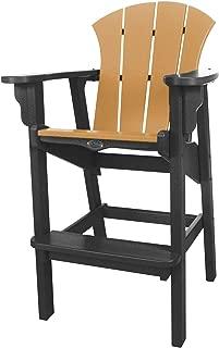 product image for Nags Head Hammocks Sunrise Bar Dining Chair, Black and Cedar
