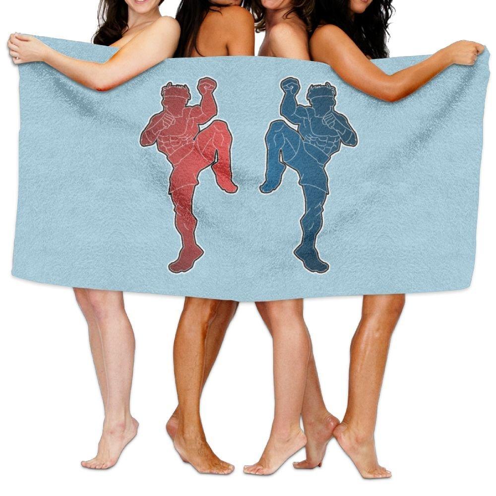 Lichang Beach Pool Custom Bath Towels Soft Funny Muay Thai Super Absorbent Microfiber by Lichang