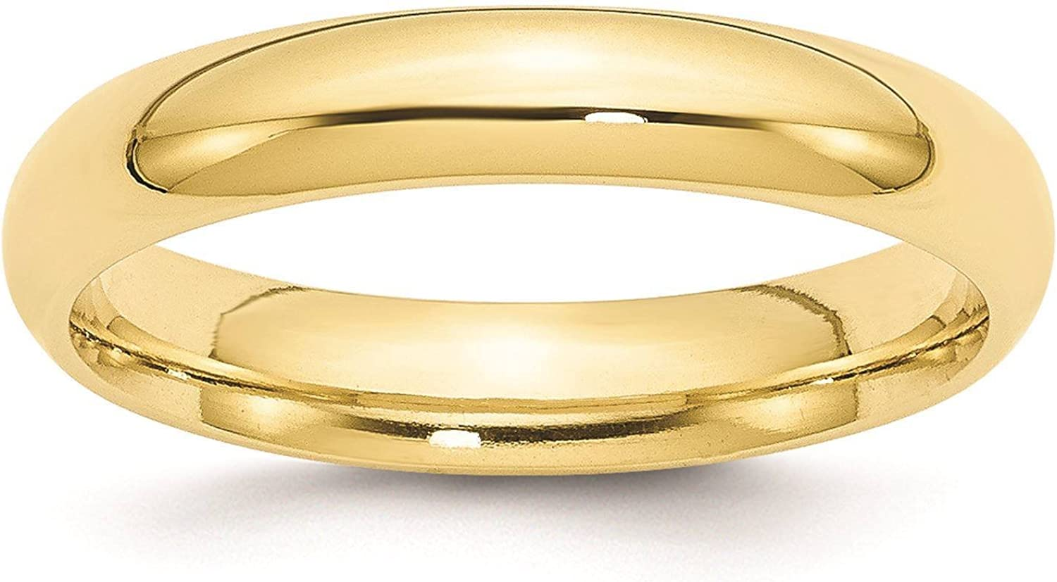 Full /& Half Sizes 10k Yellow Gold 4mm Standard Comfort Fit Wedding Ring Band Size 4-14