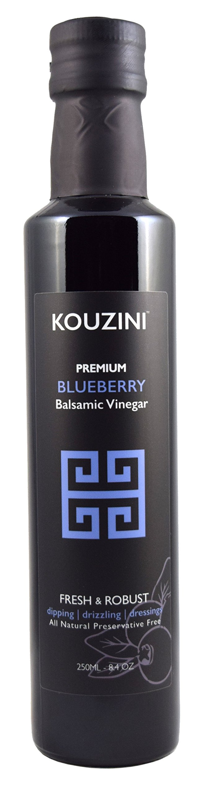 Kouzini Ultra Premium Blueberry Balsamic Vinegar (250ML Bottle)