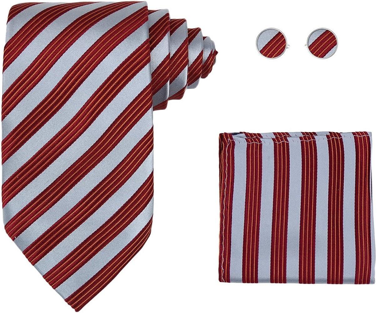 Y&G H5191 rayas rojas Novios Productos corbata de seda del pa?uelo ...