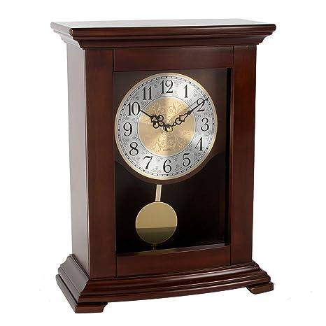 Reloj de pie Widdop de madera con pé ...