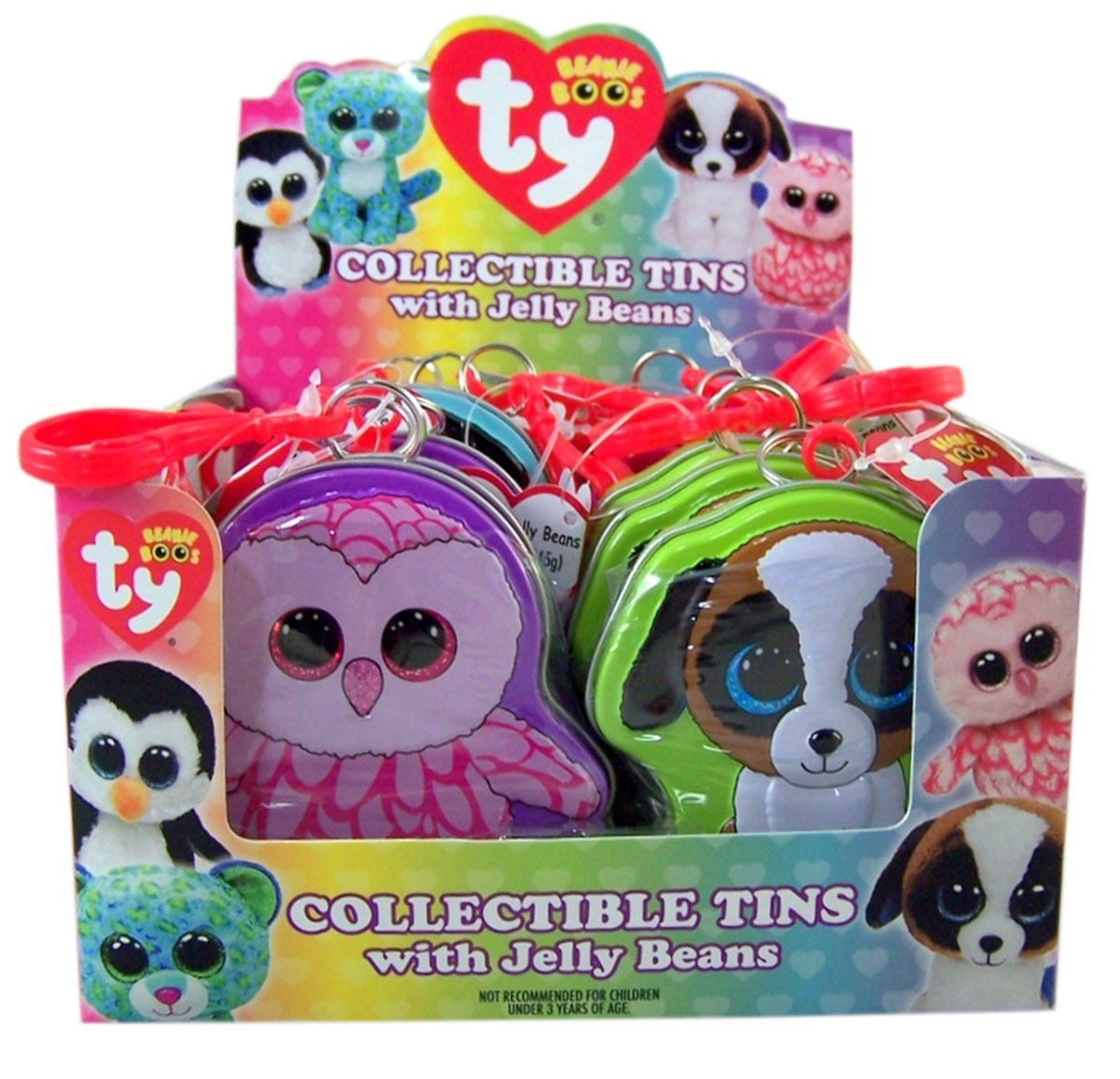 5eb7ed5647a Amazon.com   Flix Candy Ty Beanie Boos Collectible Tin with Jelly Beans