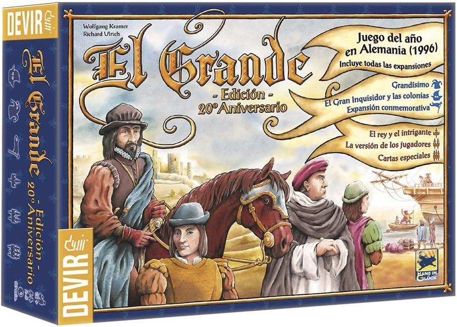 Devir-El Grande, Edición 20 Aniversario, Juego de Mesa (BGRANDE ...