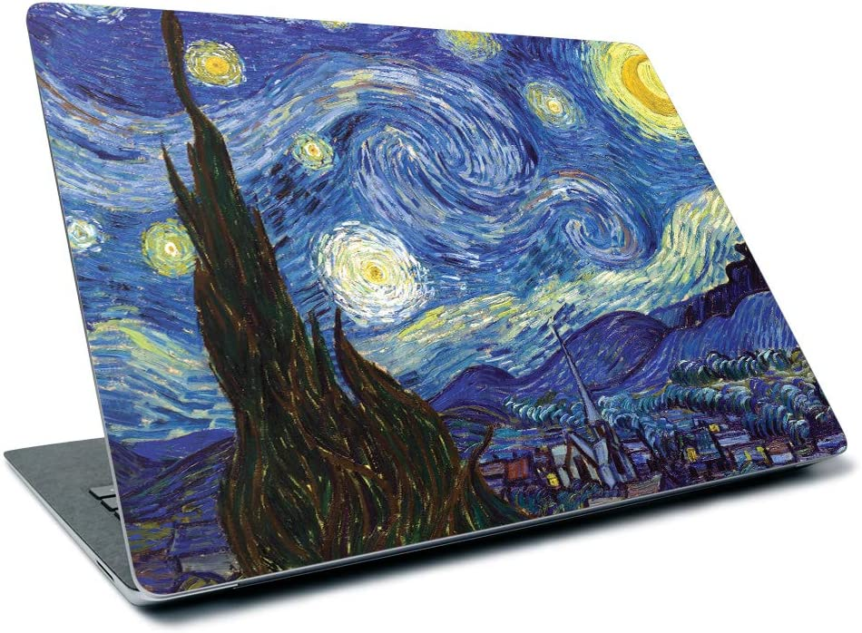 """MightySkins Skin for Microsoft Surface Laptop 3 13.5"""" (2019) - Starry Night   Protective, Durable, and Unique Vinyl Decal Wrap Cover   Easy to Apply, Remove, and Change Styles   Made in The USA"""