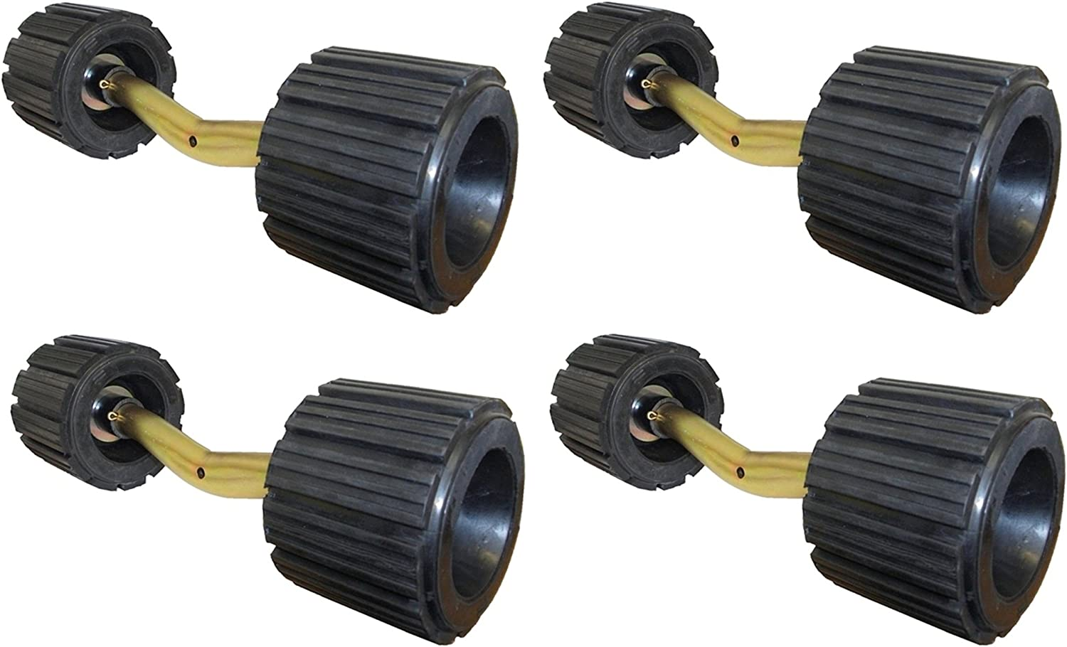 leisure MART 4 x Ribbed boat trailer roller bent brackets with ribbed rollers Pt no LMX1499