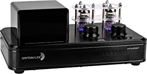 Dayton Audio HTA20BT Hybrid Stereo Tube Amplifier with Bluetooth 4.2 USB Aux in Headphone Sub Out