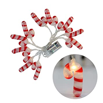 christmas led lights candy cane christmas lights warm white outdoor string light battery