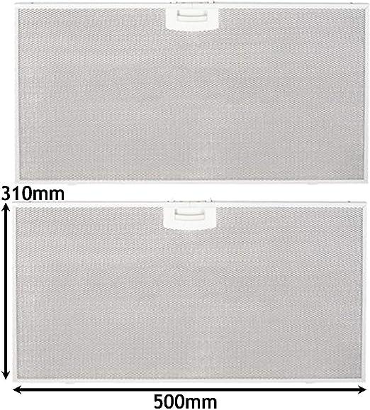 Spares2go - Filtro de grasa para extractor de campana de horno Bosch (500 x 310 mm, 2 unidades): Amazon.es: Hogar