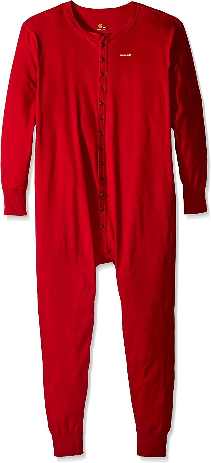 Carhartt Mens Big /& Tall Midweight Cotton Union Suit Thermal Underwear Set