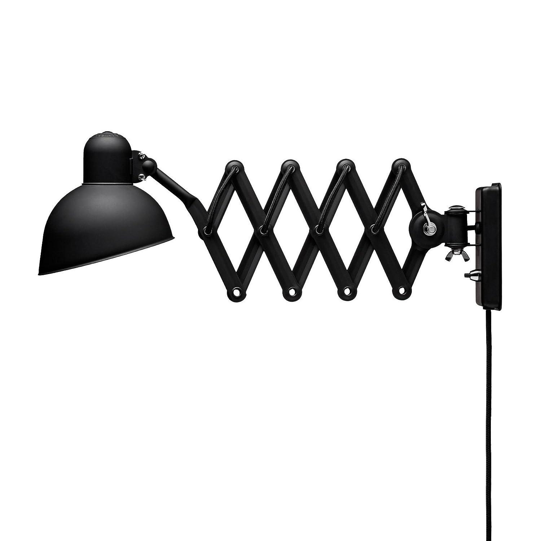 schwarz its about RoMi Industrielle Wandlampe Aberdeen Wandleuchte 59//85 cm