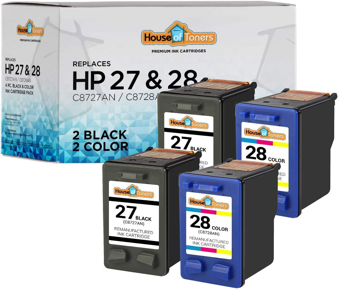 8 C8727AN C8728AN 27 28 BLACK /& COLOR Printer Ink Cartridge for HP PSC 2170