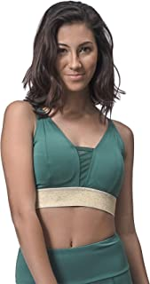 product image for Topsport Ladies V-Sports Bras (XL, Lush Green)