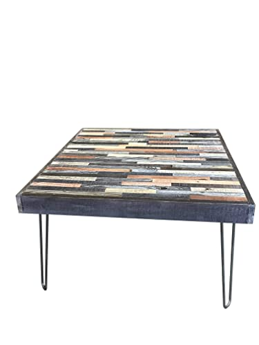 30 X 30 Square Coffee Table.Beautiful Mosaic Coffee Table With Hairpin Legs 30 X30 X16h