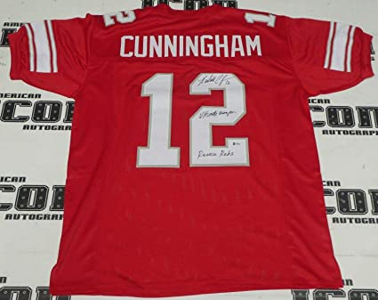 separation shoes 1da70 20f92 Signed Randall Cunningham Jersey - Football BAS Beckett COA ...