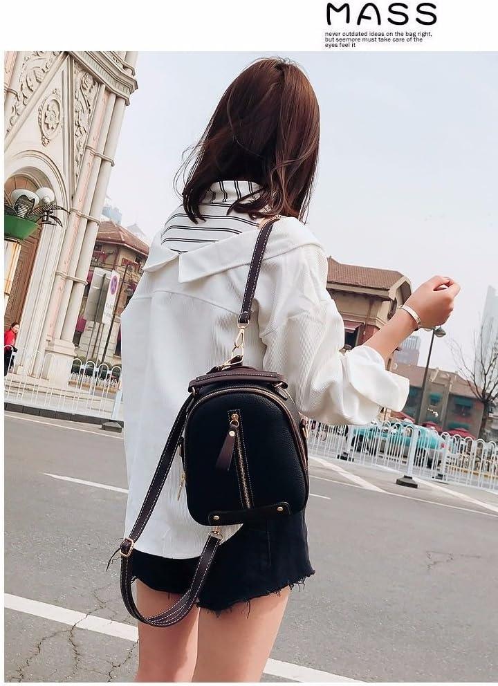 BMKWSG Women Girls Backpack School Shoulder Bag PU Leather Daypacks Travel Bag Blue 312412 cm