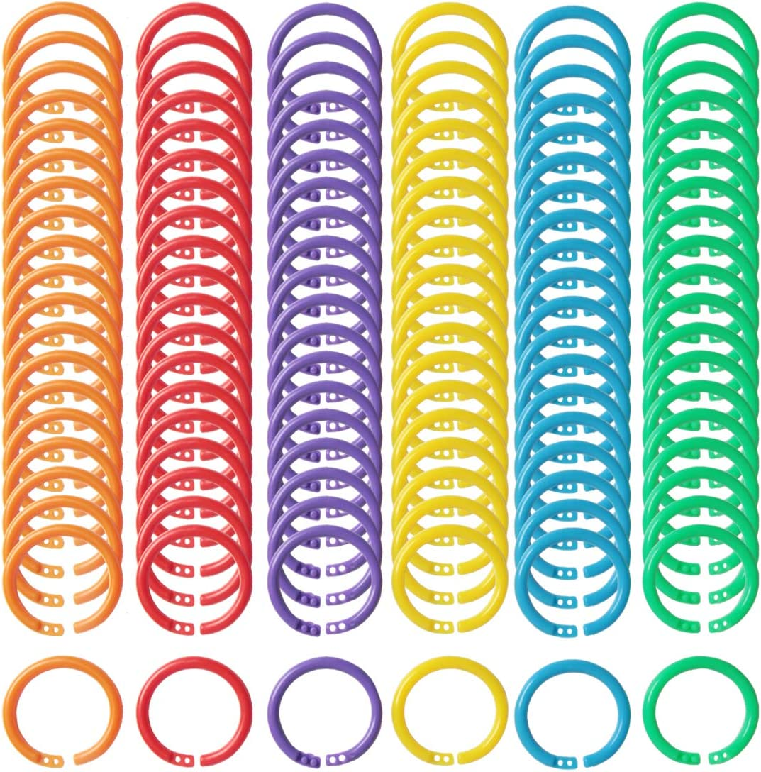 10Pcs Plastic 24mm inner diameter book binding rings loose leaf notebook UQ
