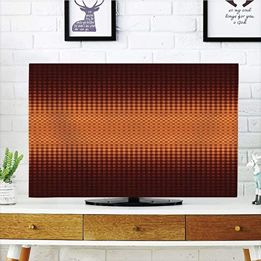 YCHY - Funda para televisor LCD, diseño de Mosaico con Lunares, Color Naranja y Amarillo, Compatible con televisores de 55 Pulgadas: Amazon.es: Electrónica