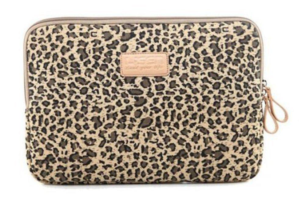 Zonman Bohemian Style Canvas Fabric Laptop Notebook Computer MacBook MacBook Pro MacBook Air Sleeve Case Bag Cover MacBook Sleeve Briefcase Carry Case(Brown Leopard)