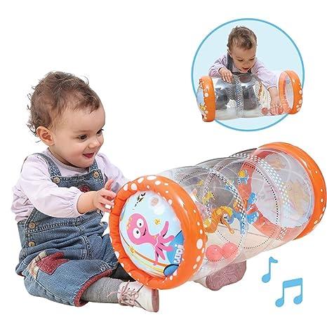 Ludi - Cilindro hinchable de actividades para bebé: Amazon.es: Bebé