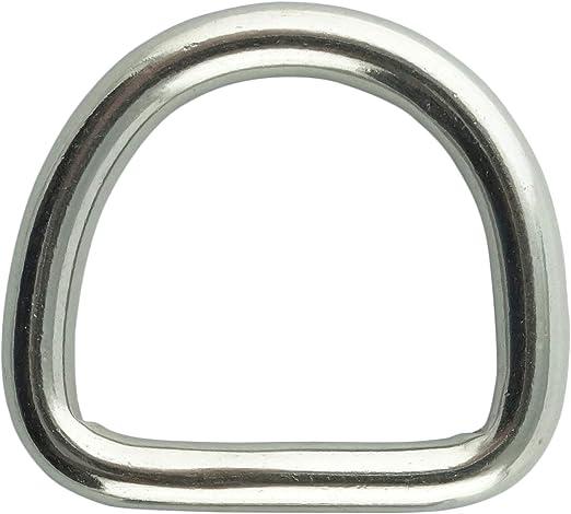 Ringe D-Ring Edelstahl 2 Stück V4A Edelstahlring Öse Edelstahlring Niro Rostfrei