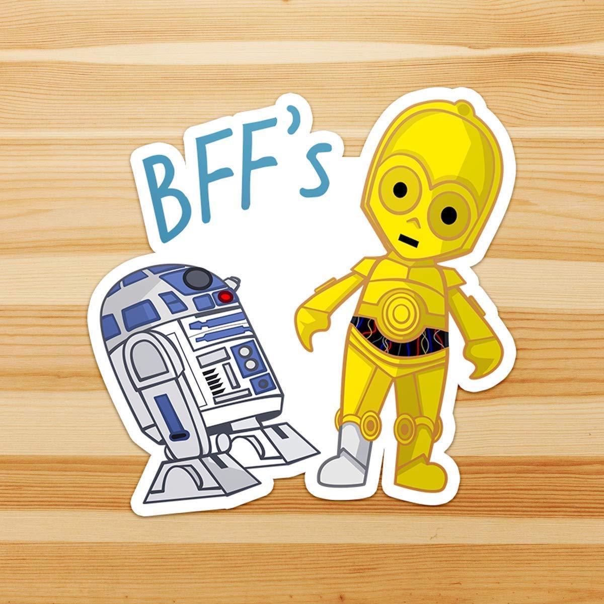 FREE SHIPPING C-3PO C3PO Star Wars Vinyl Die Cut Car Decal Sticker