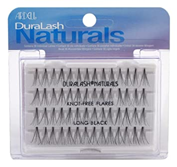 670481a4f74 Amazon.com : Ardell Duralash Naturals Flare Long Black (56 Lashes) (Case of  6) : Beauty